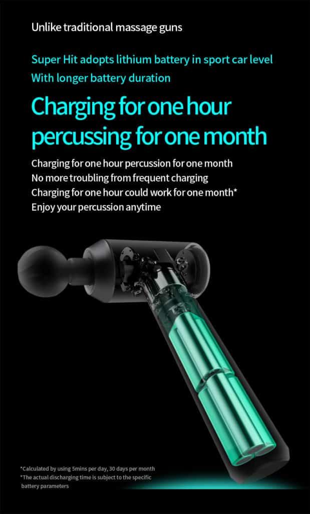 massage gun charging picture