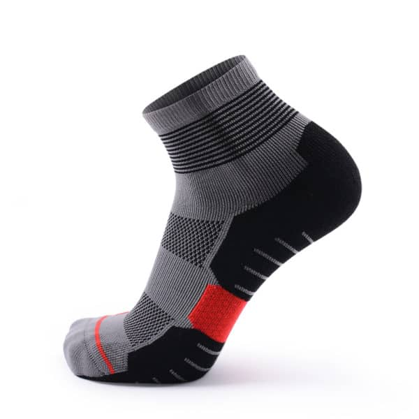 botthms black/grey mid crew running socks