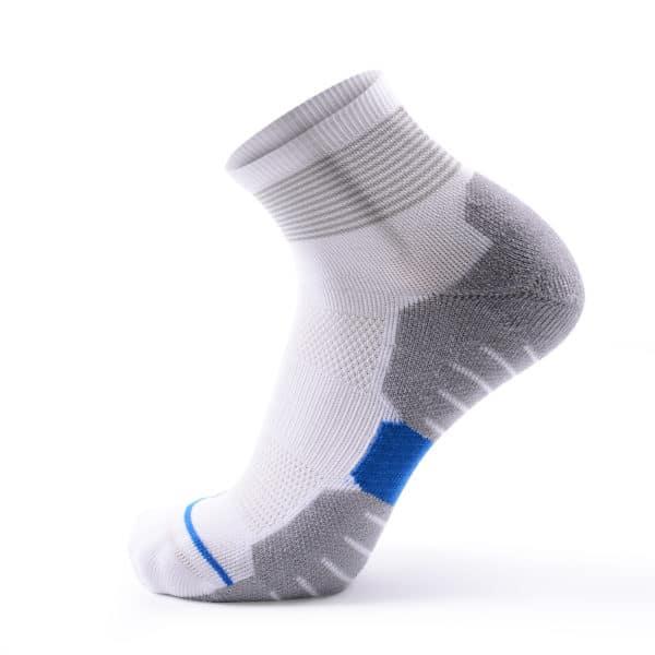 White Coolmax Crew Running Socks
