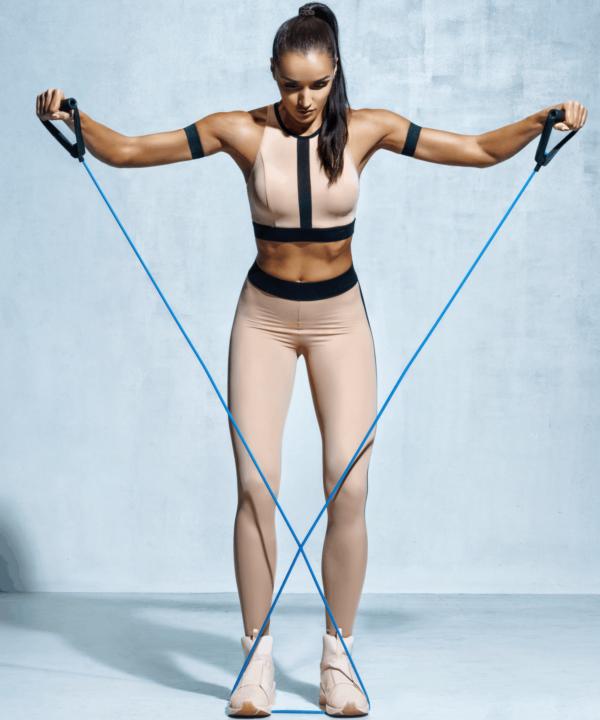 botthms athlete using resistance bands