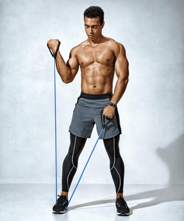 botthms mens athlete using resistance bands