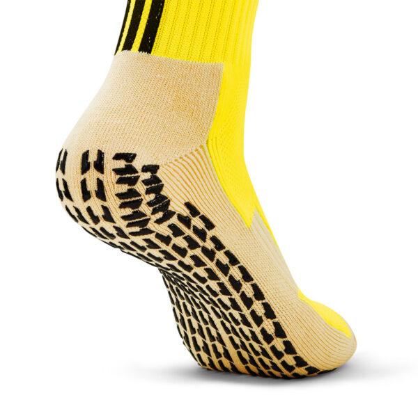 Yellow Grip Socks back view