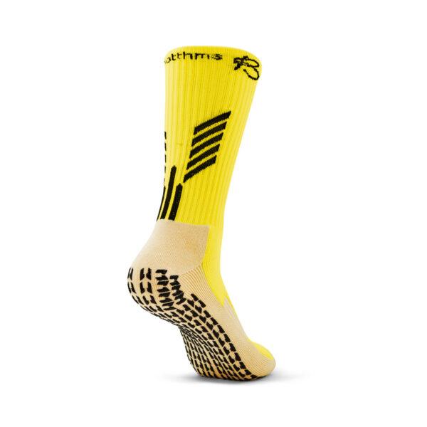 Yellow Grip Socks back full view