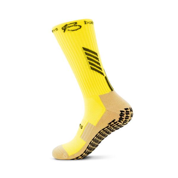 Yellow Grip Socks side view