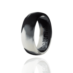 botthms Army Black Silicone Ring
