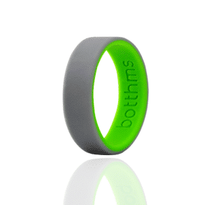 botthms Double Green Wedding Silicone Ring
