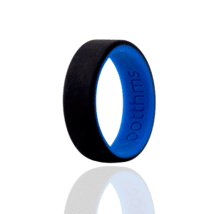 botthms Double Blue Wedding Silicone Ring